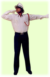 Traffic Police Hand Signals - To start vehicles coming from right