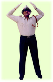 Traffic Police Hand Signals - To change sign